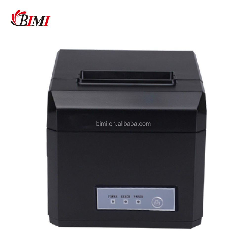 2018 Bimi USB RS232 port pos 80mm thermal receipt printer with paper