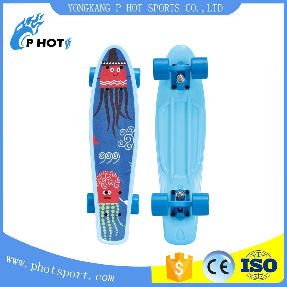 ordinary colorful plastic skate oem accepted pp board skateboard wax