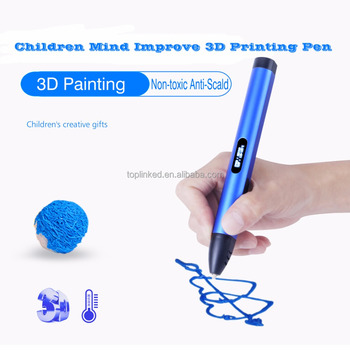 Rechargeable 3D Printing Pen for Doodling Comes with 1.75 ABS Filament Children Mind Improve