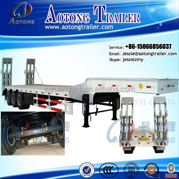 Aotong brand three or two axles best-selling low bed semi trailer for sale