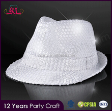 Light Up Blinking Flashing Sequin Hat Cap Sequin Party Fedora