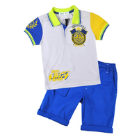 Best Quality Simplicity Design Short Sleeves Capri Pants Cotton Children Basic Polo T Shirt Wholesale