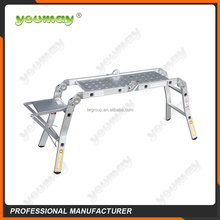 AS/NZS Aluminum step platform ladder AM0108C folding ladder wtih 4x2 step collapsible stairs