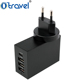 CB approval UK US EU AUS 5 in 1 travel charger kit 5.8A mobile phone charger type C +QC 3.0 port universal usb travel charger