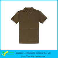 Latest Solid Color Fitness 100% Dri Fit Man's Golf Polo Shirts