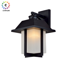 CK-40110SW Mini Outdoor Courtyard Wall Mount Light Fixture Lantern Wall Lamp LED Waterproof Light