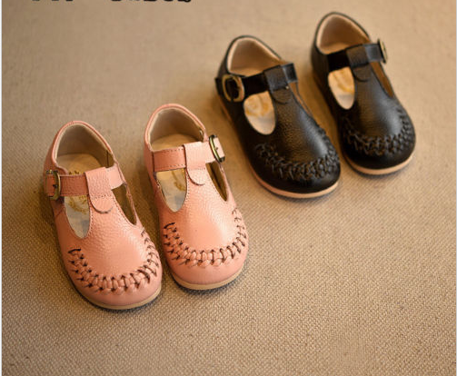2016 New Arrival Fashion Girl Kids Casual Shoes Children Vintage Genuine Leather Suede Shoes