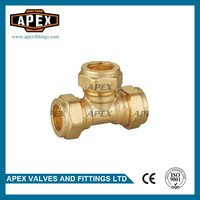 High Quality Wholesales Price APEX 15mm Equal Brass Compression Tee
