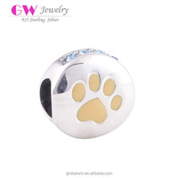Dog Paw Print Charm Fashion Jewelry Vendors Made In China Charms Fit Snake Chain Findings D010
