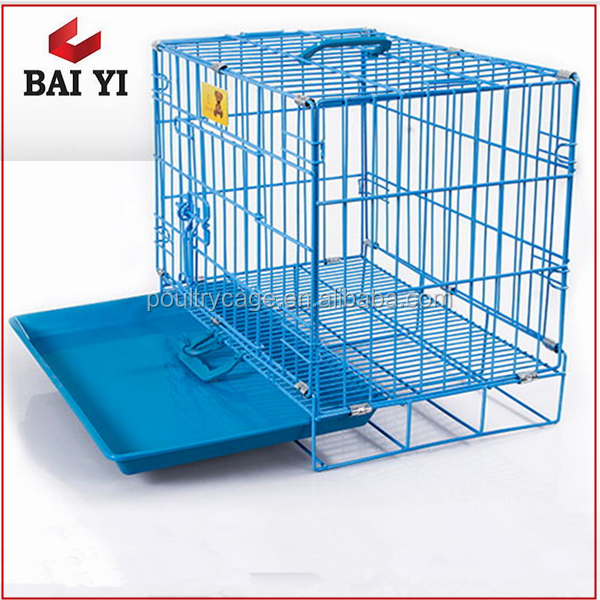 Foldable Stainless Steel Dog Cage & Crate