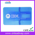 Advertising transpatent credit card USB Flash