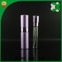 10 ml Mini Portable For Travel Aluminum Refillable Perfume Bottle With Spray&Empty Cosmetic Containers