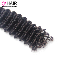 2015 Natural brazilian loose deep wave hair weave