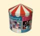 Round shape beautiful cake cookie candy snack tin box with a tapered lid