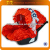 New design red graco baby car seat cover with flower belt sheepskin baby car seat cover for kids