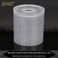 OEM/ODM Transparent Acrylic Round Glove barrel / Wastepaper Basket