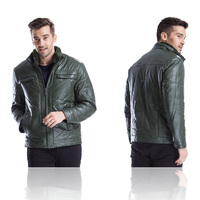 Winter leather outdoor anti wind and rain proof men's jacket