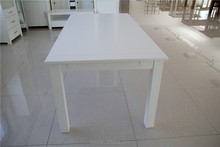 Minimalist modern nature painting white dining room furniture