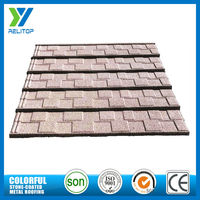 Custom stone coated zinc villa decorative aluminium recycled roof tiles