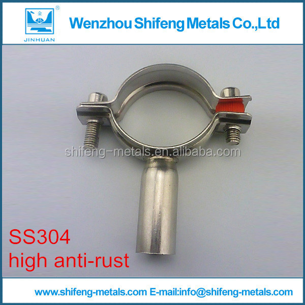 Sanitary Stainless steel Round and high anti rust Pipe Hanger