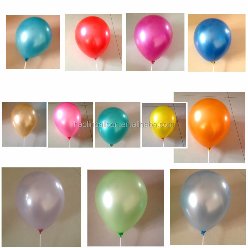 Wholesale small pearl metallic latex balloons for celebration