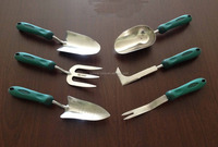 Garden Hand tools, Plastic handle Stainless head tools set, stainless tools set,
