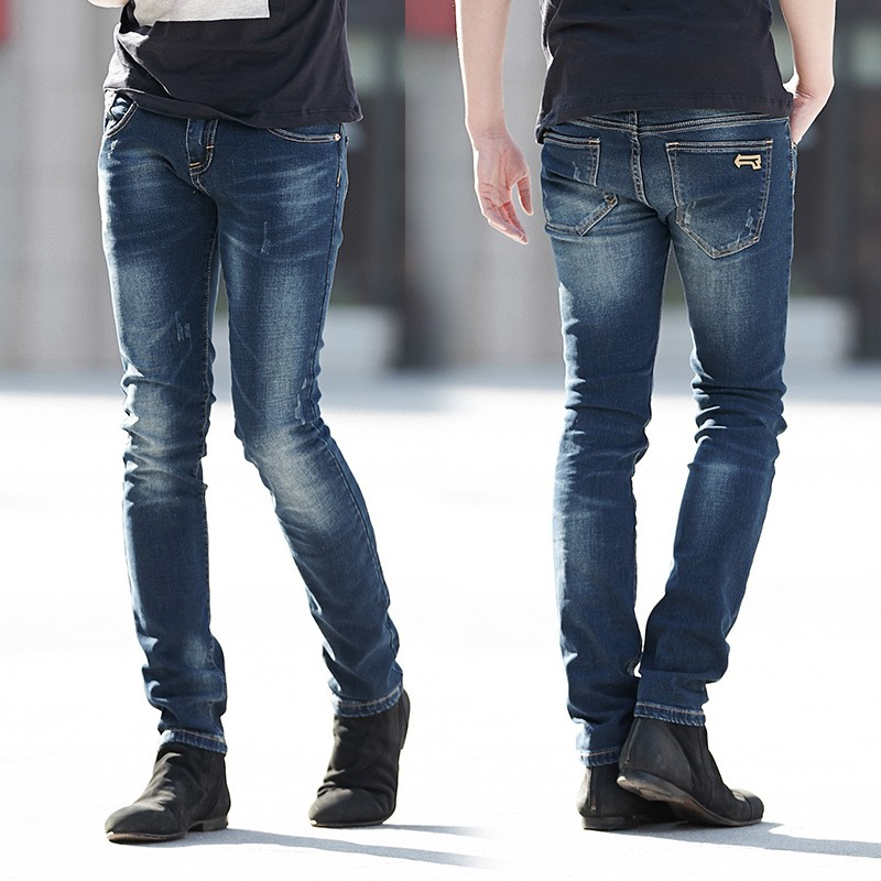 European Brands Style Blue Monkey Tight Returner Jeans For Men Bulk Sale