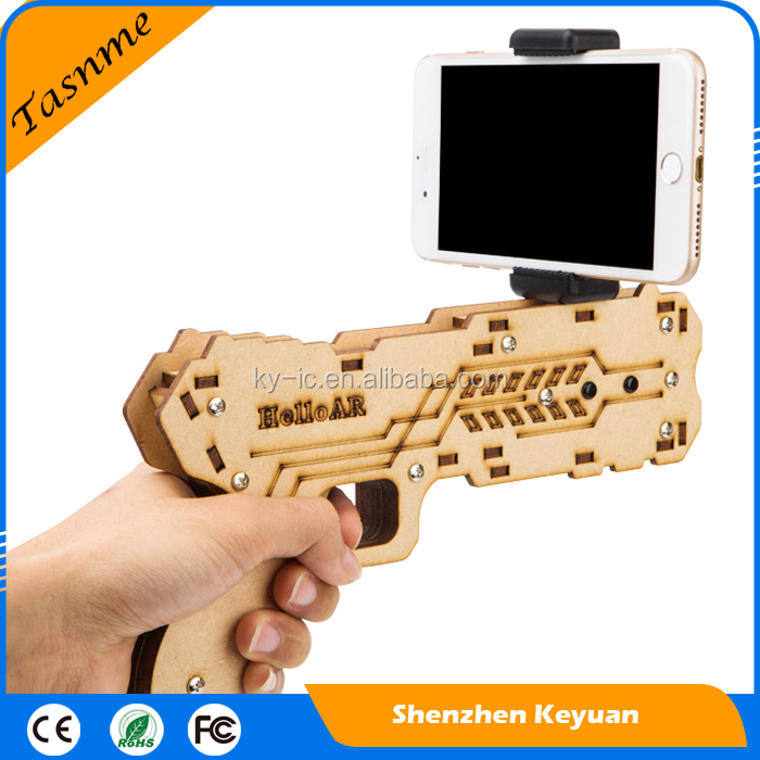 2017 New Item Virtual Shooting Game Reality Experience Wood Toy AR Gun