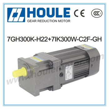 7GH 300W single phase 220V/380V reduction gear motor with speed controller