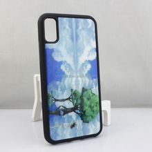 Colorful Flower Printed Cell Phone Case High Quality Ultra Clear Tempered Glass Covered Phone Case