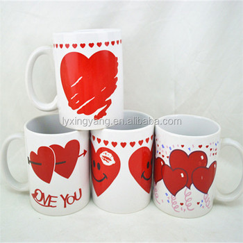 lovely valentines day mug with cute designs for gift