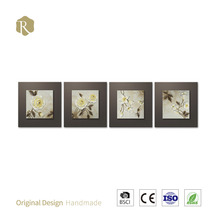 Home Decor Wholesale-Relief Painting -3D Vision Elegance shadow of Butterfly golden leafe painting