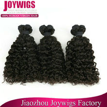 Cheap Natural black color Afro curl indique virgin indian hair weaves
