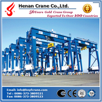 Rubber tire container gantry crane from crane home town for panama container