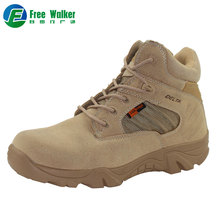 Autumn winter mens anti-slip custom short army military beige black Outdoor ankle desert hiking boots