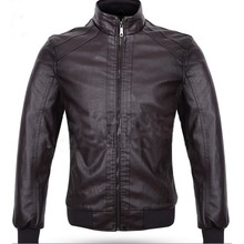 Cheap price PU leather men jacket for Spring and Autumn