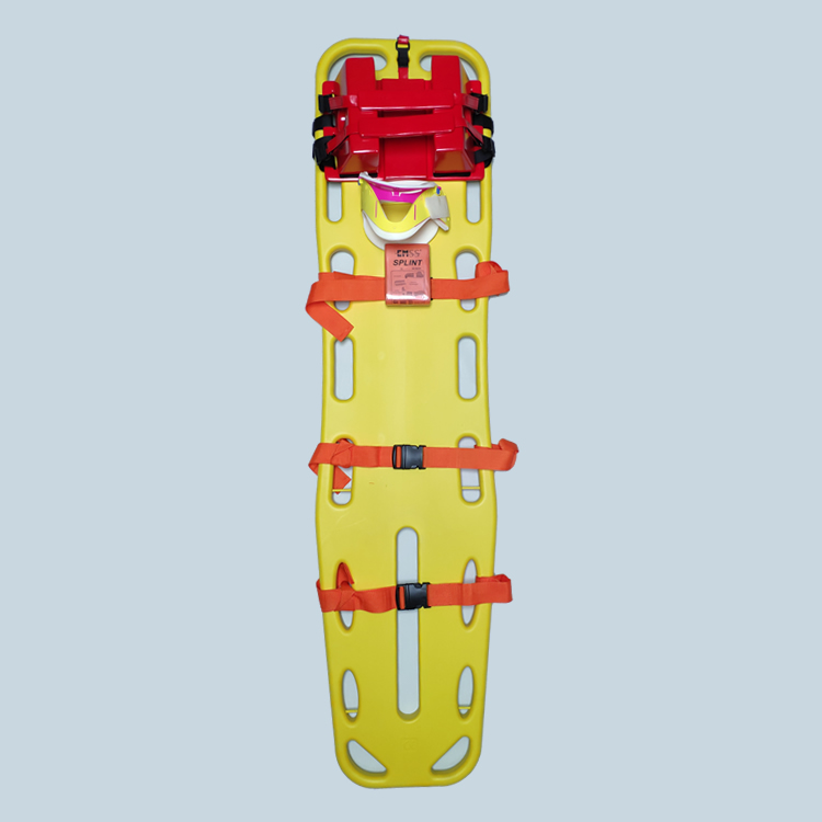 emergency set with head immobilizer and cervical collar for adults and children