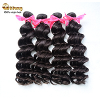 Guangzhou Queen Beauty Hair Products, 100% Malaysian Loose Wave Virgin Hair