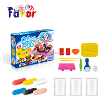 Diy super plasticine slime play dough color clay with mould
