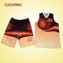 New Design Basketball Jersey And Shorts Custom With Your Logo AB-272