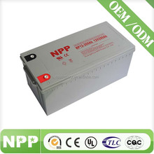 12V 200AH China Manufacturer VRLA AGM Dry Batteries For UPS