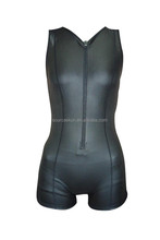 Customized shorty women's triathlon smooth skin wetsuit