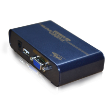 2 ports VGA splitter distribution video duplicator,support usb power adaptor,metal case