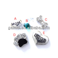 hotsale cheap price metal floating charms for lockets