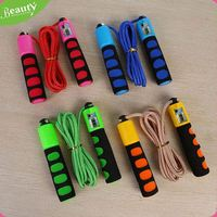 Adjustable electronic digital count jump rope ,E067jd7 jump rope adjustable