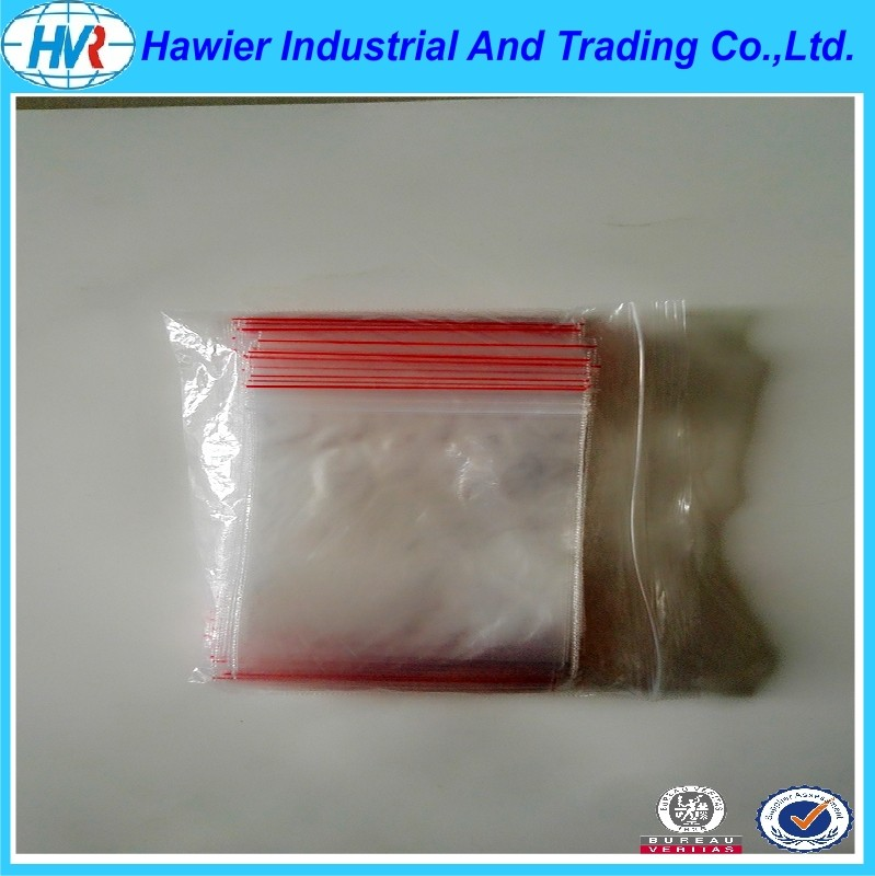 Clear low density poly resealable food bags daily use from Hawier