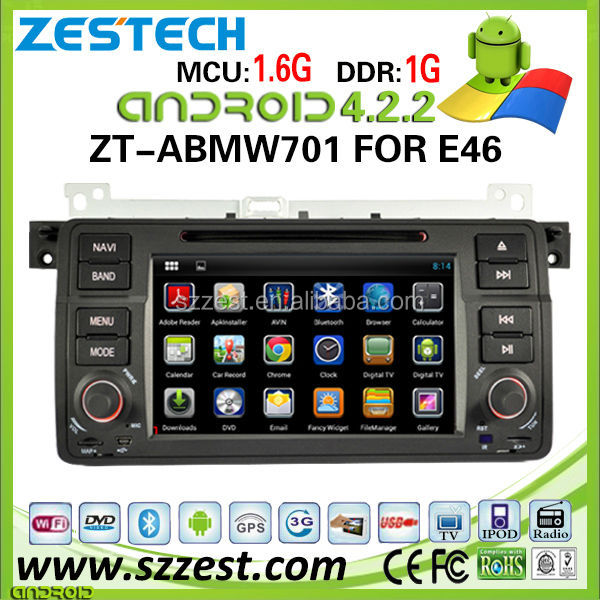 ZESTECH Wholesale car dvd gps android for BMW E46 with capacitive 7 inch touch screen gps navi