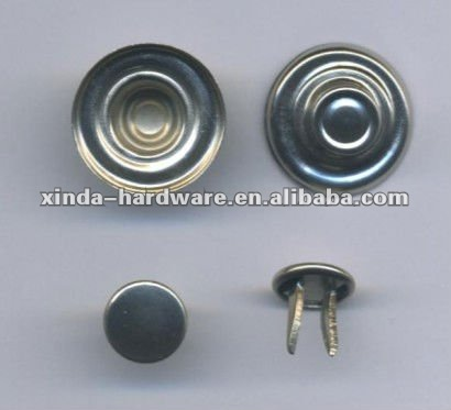 Turkey Brass and Stainless Steel and Iron Double pins Nails for Double pins Jeans button bottom button shank