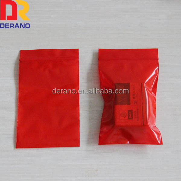 poly/pe red colour opaque ziplock bags