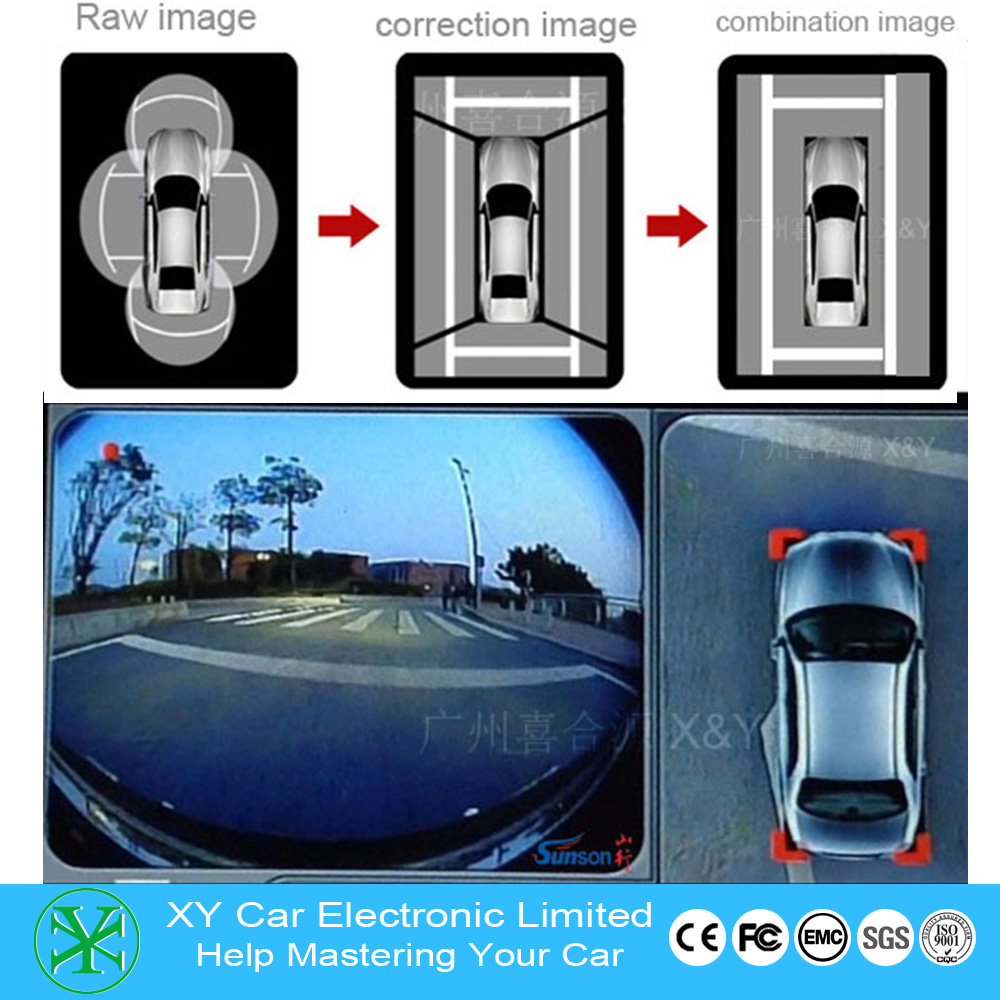 Professional car electronic manufacturer 360 degree birdview camera With Long-term Technical support XY-360